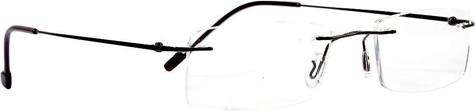 Redex Rimless Rectangle Unisex Spectacle Frames (Black,Jk151)