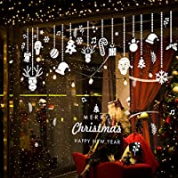 Pegatinas Navidad para Ventanas, Pegatinas de Navidad, Pegatina Copo de Nieve,Decoración de Navidad para Ventana/Puerta de Casa y Tienda