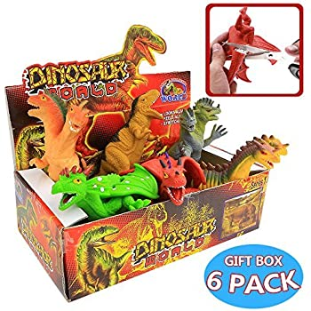 Squishy Dragon Toys : 8 Inch Rubber Dinosaur Dragons Toys Set(6 Piece),Great Safety Materials TPR Super Stretchy,With ...