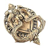 #10: IndianShelf Handmade Decorative Antique Look Brass Multicolor Ornate Door Knocker