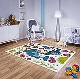 Kinder Teppich mit Märchem-Motiv Fische Verschiedene Größen (160cmx230cm)