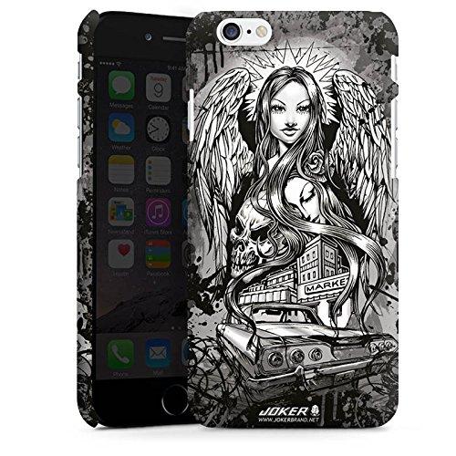 Apple iPhone X Silikon Hülle Case Schutzhülle Joker - Lost Angel Engel Totenkopf Premium Case matt