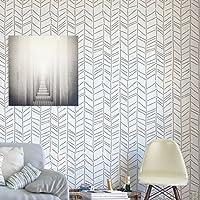 Herringbone handgezeichnete Wandschablone - Schablonen für Wände - Maler Schablonen