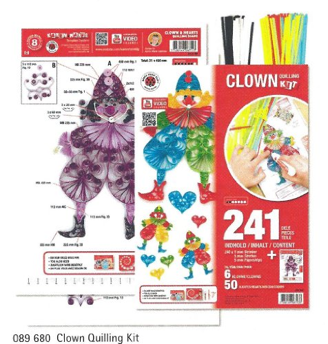 Quilling KIT Template Clown & Hearts 241 Teile (Clown Kit)