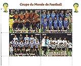 Coppa del Mondo di calcio francobolli per collezionisti - 4 Mint stamp mai incernierate - perfetto per filatelia - Stampbank - amazon.it