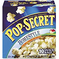 Microwave Popcorn, Homestyle, 3.5 oz Bags, 10/CT, Sold as 1 Box