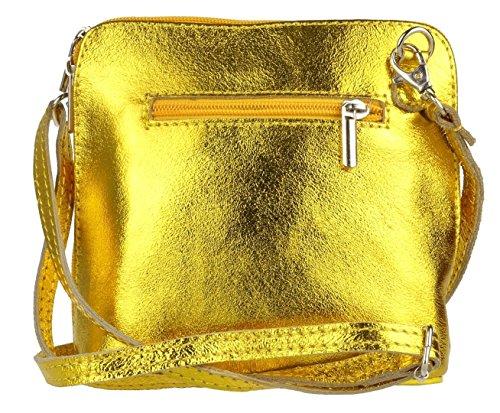 Elegant, Borsa a tracolla donna Metalic Bright Gold