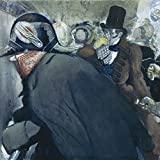 Artland Qualitätsbilder I Alu Dibond Bilder Alu Art 100 x 100 cm Menschen Gruppen Familien Malerei Schwarz A2FM Illustration zu Gogols Novelle Die Nase