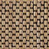 Teppichboden Auslegware | Sisal-Optik Schlinge | 400 cm Breite | gelb natur | Meterware, diverse Längen, Variante: 5 x 4m