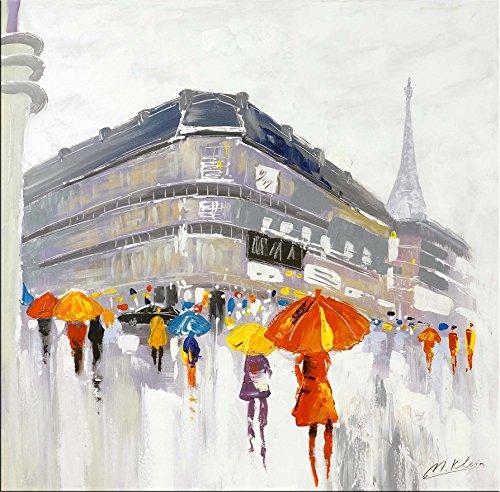 Abstracto Paris de-Moderno Acrílico Gemälde-Un jour à Paris-Martin pequeño-abstracto pintura al óleo comprar-Acrílico imágenes comprar-pared Imágenes