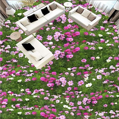 Lvabc Atemberaubende 3D-Stereoanlage Blüht Das BenutzerdefinierteTapeten-Wandgemälde DesBodens Des Grünen Grases-400X280Cm