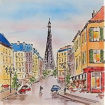Angie Decoration Boulevard París - Cuadro, 70 x 70 cm