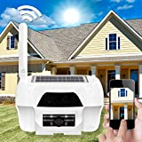 Solar WIFI WLAN HD Kamera Überwachungskamera Innen und Aussen wasserdicht mit Solarzelle mit Aufnahmefunktion 1 Megapixel 16 GB PIR Sensor
