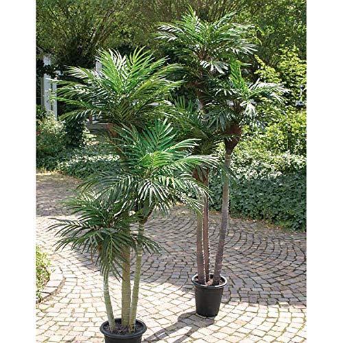 artplants Set 'Kunstpalme Areca + Gratis UV Schutz Spray' - Künstliche Areca Pflanze Carry, grün, 150 cm