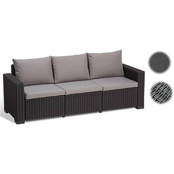 Amazon De Allibert Lounge Sofa California 3 Sitzer Graphit Panama