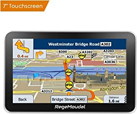 GPS Navi Navigation für Auto,Regemoudal Auto GPS Navigation 7 Zoll 8G 256M Europe Traffic Navigationsgerät, vorinstallierte EU Karten, kostenlose Lifetime Updates