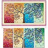 Tourwin KreuzstichHandarbeit DIY Stickerei Kreuzstichbild Wohnkultur Geschenk, Saison Baum, 128x 57cm