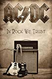 In Rock We Trust Textil Poster