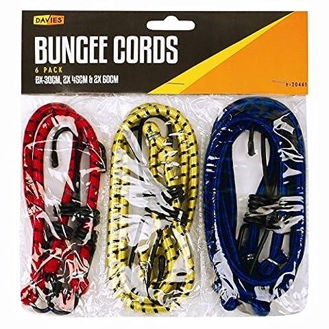 6X tendeurs fils Câbles Sangles Bungie élastique 30cm 45cm 60cm.