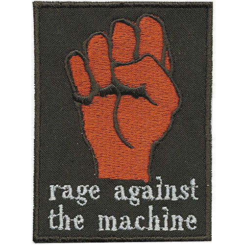 AUFNÄHER - Faust - rage against the machine - Gr. ca. 9cm x 6cm (02038) Patches Applikation Stick Emblem (The Against Machine-patches Rage)