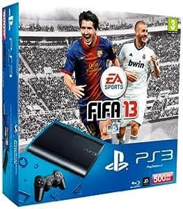Console PS3 Ultra slim 500 Go noire + Fifa 13