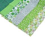 Souarts 6 Stück Stoffpakete DIY Kleine Blume Muster