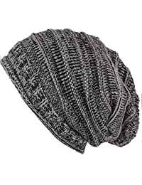 caripe warme Strick Mütze Winter Damen Herren Long Beanie meliert - lb55