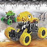Gaddrt Spielzeug Toy Fahrzeug Auto Trägheit Allradantrieb Geländewagen-Simulation Modell Toy Baby Car Model 17.5x13x11cm (Gelb)