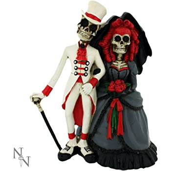 Nemesis Now Forever By Your Side Figurine Skeleton Wedding Bride