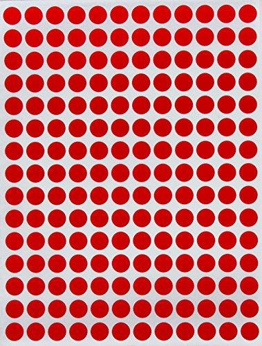 Etiquetas de colores 1/4pulgadas 8mm Dot pegatinas en verde, amarillo, rosa, morado, naranja, marrón, azul y rojo por Royal verde