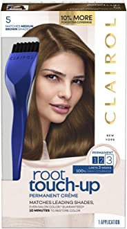 Clairol Nice 'n Easy Root Touch-Up 5 Kit, Matches Medium Brown Shades of Hair Coloring, Includes Precision Brush Applicator
