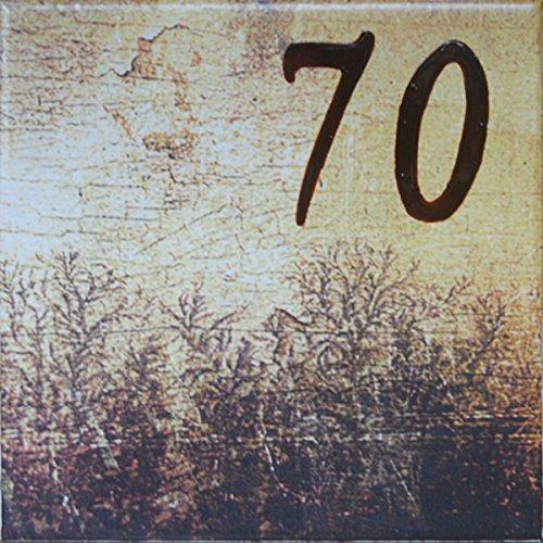 Azul'Decor35 Haus Nummerierung Fayencen – 15x15x0,5 cm - Wählen Sie Ihre Nummer!