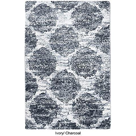 La Repubblica Tappeto fatto a mano avorio e carbone Tappeto in lana stampato Bielorussia (290x 190cm), 1pezzo