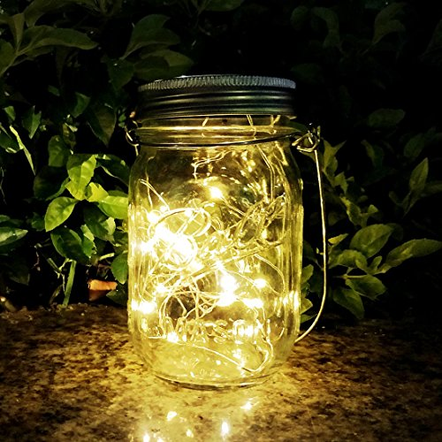 AGPTEK Solarlampe Solarleuchten im Freien hängende Lichter LED-Laternen führten Wasserdichte feenhafte Lichter im Freien für Garten, Hof, Hochzeit, Partei, warmes Weiß