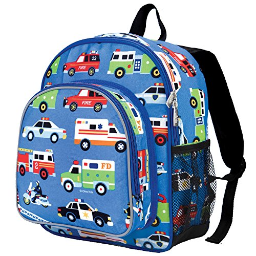 61RO3Mm9aFL. SS500  - Wildkin Toddler Backpack-Action Vehicles, Polyester, Multi-Colour, Pack 'n Snack