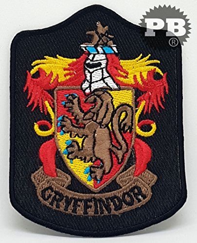 HARRY POTTER Iron Sew on Embroidered Patches (581 Gryffindor long)