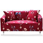 lesgos Stretch Sofa Cover 1 2 3 4 Seater, Soft Elastic Fabric Slipcover with Anti-slip Strip, Furniture Protector for...