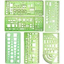 095479ce7b Normografo misura 6 pezzi di plastica cerchio disegni modelli costruzione  Cassaforma stencil geometrico disegno righelli per