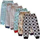 #3: Tinchuk Kid's Cotton Rib Mixed Prints Pyjama (Yellow, 2-3 Years) - Set of 6