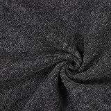 Kochwolle Klassik Grau — Meterware ab 0,5m — Zum Nähen
