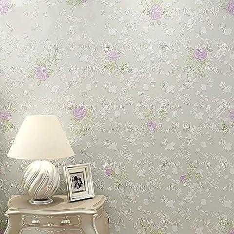 Papel pintado Dormitorio rústico fondos salón TV fondo pared wallpaper verde paño pegamento-consolidado fondos románticos fondos de pantalla , 91205 pale purple