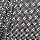 Baumwollstoff beschichtet Punkte Stoff Meterware Dunkel-Grau