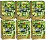 Oleanderhof® Sparset: 6 x COMPO Bäume, Hecken, Sträucher Langzeit-Dünger, 2 kg + gratis Oleanderhof Flyer