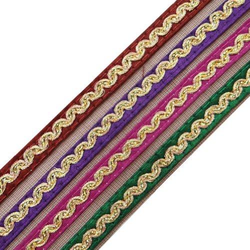 multicolor trenza real tela marrón neto del ajuste de costura artesanal frontera ajuste del cordón por el patio