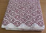 handicraftofpinkcity ndian Hand Block Print Stoffe Sanganeri Überwurf Jaipuri Bedruckte Baumwolle Stoff Meterware
