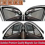 AUTOFACT Magnetic Window Sun Shades for Maruti Suzuki WAGONR (2010 to 2017) -Set of 4 - With Zipper
