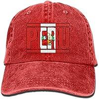 Jxrodekz Cappello da Baseball del Denim del Cotone di Modo Adulto 2019  Peruviano Perù Flag- 61c3aaa4eccf