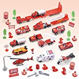 #5: Generic 1/64 Alloy Fire Rescue Vehicle Models Die-cast Cars Toy Boys Playset#B