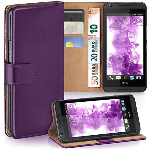 MoEx HTC Desire 626G | Hülle Lila mit Karten-Fach [OneFlow 360° Book Klapp-Hülle] Handytasche Kunst-Leder Handyhülle für HTC Desire 626G/626 Case Flip Cover Schutzhülle Tasche