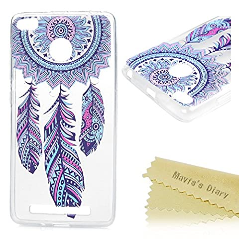 Mavis's Diary Coque Redmi 3S/3 Pro TPU Souple Transparent Dreamcatcher Dessin Housse de Protection Étui Téléphone Portable Phone Case Cover+Chiffon